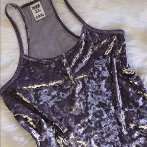 🪁 Purple Crushed Velvet Tank